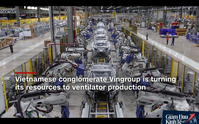 Hình ảnh nhà máy VinFast trên đài truyền hình CNN
